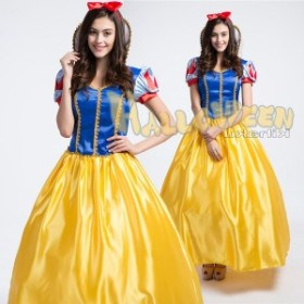 9623f40065a95 4906M ロング丈ドレス お姫様コスチューム プリンセス 白雪姫 コスプレ衣装 プリンセス ハロウィン クリスマス