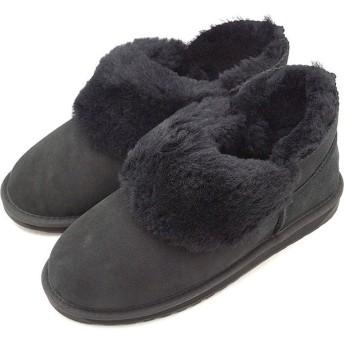 日本別注 エミュー EMU シープスキン ショートブーツ バイア Baia レディース ムートン 靴 Black W11695 FW18