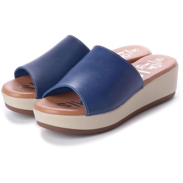オー マイ サンダルズ Oh my Sandals 【INTER-CHAUSSURES】クッションインソールミュールサンダル (ブルー)