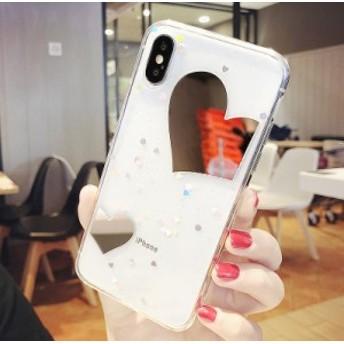 iphone6s Plus/iPhone6 Plus/iPhone7 Plus/iPhone7/iPhone8 Plus/iPhone8/iPhoneXケース透明キラキラ鏡面ケース【mk27】