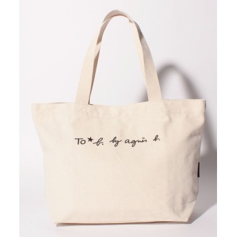 アニエスベー WI03 SAC ロゴトートバッグ レディース ホワイト F 【agnes b.】