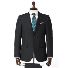 【パンツ2本タイプ】リンクルプロテクトスリムノータック2パンツスーツ(メンズ) クロ