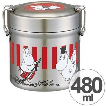 保温弁当箱 真空ステンレスランチボックス 480ml ムーミン ストライプ ステンレス製 ( 保温 保冷 お弁当箱 ランチボックス )