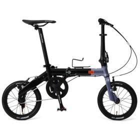 DOPPELGANGER 140-H-GY メタリックグレー×ブラック Hakovelo [折りたたみ自転車(14インチ)] 折りたたみ自転車・ミニベロ