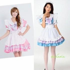 5400円以上お買上げで送料無料! レディース フリル メイド服 コスプレ衣装