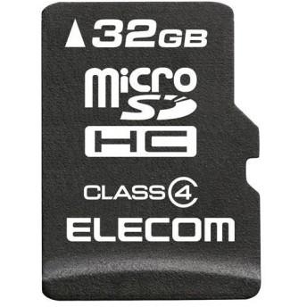 エレコム MF-MSD032GC4R microSDHCカード 32GB CLASS4