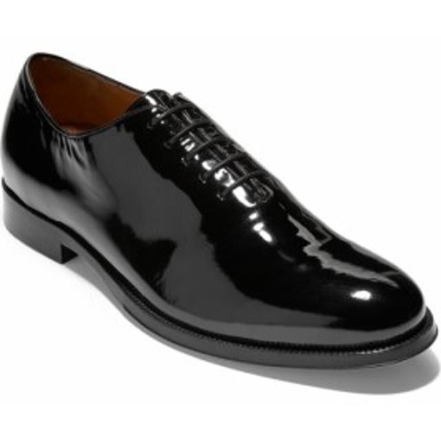 ダービーシューズ ジョッキーシューズ メンズ【COLE HAAN American Classics Grammercy Whole Cut Shoe】Black Pa