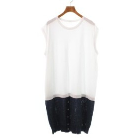 Y's / ワイズ レディース ワンピース 色:白x紺 サイズ:F