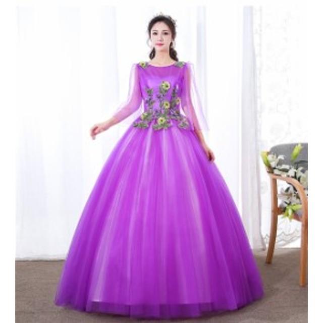 c125f98d4142b カラードレス パーティードレス ウェディングドレス 発表会 演奏会用ドレス プリンセスライン 二次会・