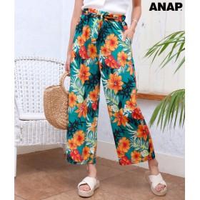 【セール開催中】ANAP(アナップ)トロピカル花柄ワイドパンツ