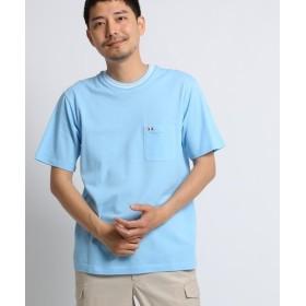 【50%OFF】タケオキクチマリンラインTシャツ [ メンズ Tシャツ カットソー ]メンズサックス(090)02(M)【TAKEO KIKUCHI】【セール開催中】