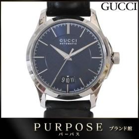 グッチ GUCCI Gタイムレス YA126443 メンズ 腕時計 126 4 デイト ネイビー 文字盤 裏スケルトン オートマ 自動巻き ウォッチ