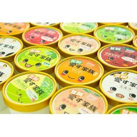 笠岡ジェラート工房ハッピーのカップアイス(愛す家族)30個セット