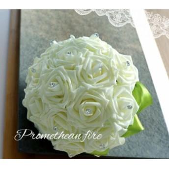 綺麗ブーケ ウェディングブーケ 手作り造花ブーケ ドレスブーケ ラウンドブーケ 花束 ウェディング用  ブライダル 安い SPH-07