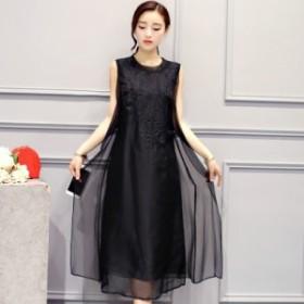 シンプル マキシ丈ワンピース ロングワンピース スカート フォーマル 結婚式 パーティードレス ドレス