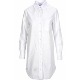 トムブラウン ドレス カジュアルドレス 結婚式用 レディース【Thom Browne Shirt Dress】WHITE