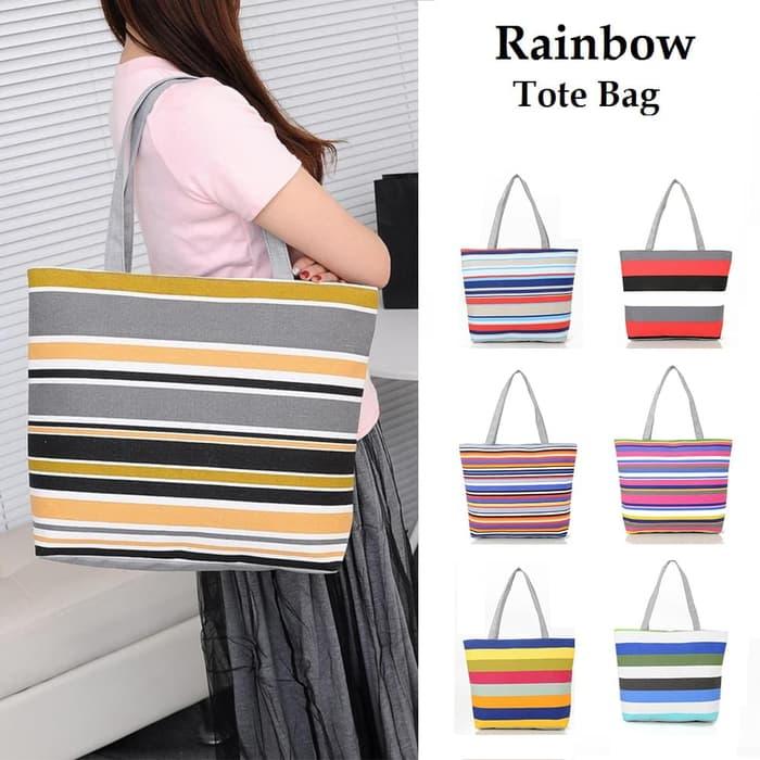 435203153a99 TC15 Rainbow Canvas Tote Bag   Tas Kanvas Pelangi