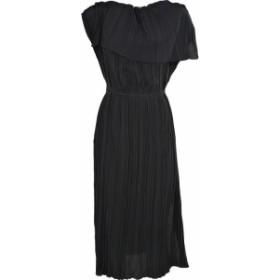 マルニ ドレス カジュアルドレス 結婚式用 レディース【Marni Pleated Crepe Dress】Nero