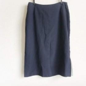 ae1374957d4a クリスチャンラクロワ Christian Lacroix ロングスカート サイズ38 M レディース 美品 ダークネイビー【中古