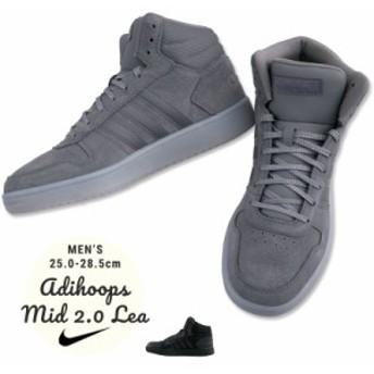 adidas スニーカー ADIHOOPS MID 2.0 LEA メンズ B44635