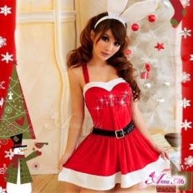 即納 サンタ コスプレ サンタコス コスチューム アニマル バニー 猫耳 セクシー サンタコスチューム クリスマス サンタクロース 赤