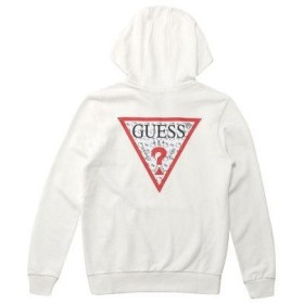 GUESS x Hello Kitty PATTERN TRIANGLE LOGO PULLOVER PARKA (IVORY) (ゲス × ハローキ