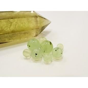 パワーストーン 天然石 ビーズ プレナイトA ビーズサイズ 6mm 形 丸玉 一粒販売