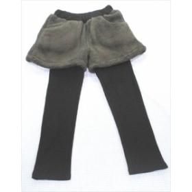 Mibu2 ミブ パンツ レギンス ボア 120cm 黒系 新品 無地 ボトムス 女の子 キッズ 子供服 通販 買い取り