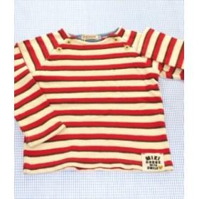 ミキハウス MIKIhouse 長袖Tシャツ ロンt 100cm 赤/白系 ボーダー トップス 男の子 女の子 キッズ 子供服 通販 買い取り