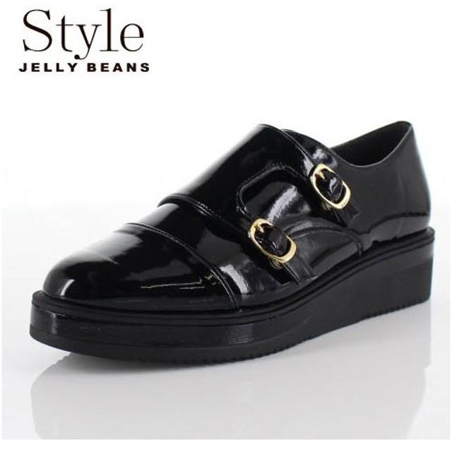 STYLE JELLY BEANS ジェリービーンズ 靴 903 シューズ モンクストラップ ダブルモンク 厚底 エナメル 黒 ブラック レディース セール