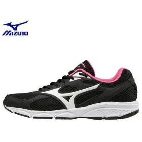 ミズノ MIZUNO マキシマイザー20(ランニング)[レディース](02)ブラック×ホワイト×ピンク K1GA180102