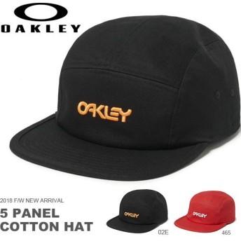 得割30 キャップ OAKLEY オークリー メンズ OAKLEY 5 PANEL COTTON HAT ロゴ 帽子 CAP 平つば