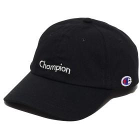 チャンピオン CHAMPION キャップ  ウェーブ ロゴ ツイル ロー キャップ (クロ) 18FA-I