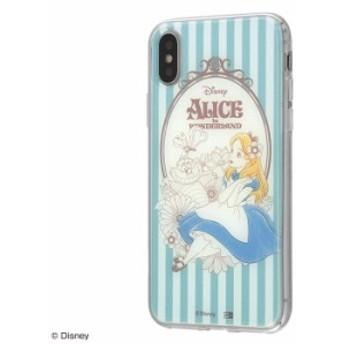 iPhone XS ケース iPhone X ケース ディズニー キャラクター TPUケース+背面パネル ふしぎの国のアリス アイフォン カバー