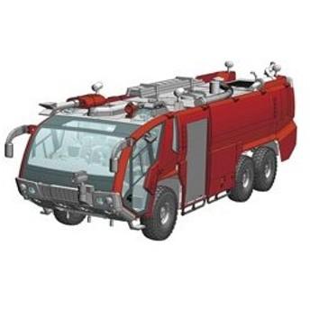 ハセガワ 1/72 ローゼンバウアー パンサー 6×6 空港用化学消防車 プラモデル