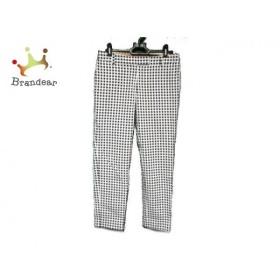 トゥモローランド パンツ サイズ36 S レディース 白×ダークネイビー チェック柄/collection     スペシャル特価 20190501