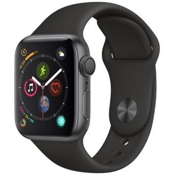 Apple Watch Series 4(GPSモデル)- 40mm スペースグレイアルミニウムケースとブラックスポーツバンド MU662J/A