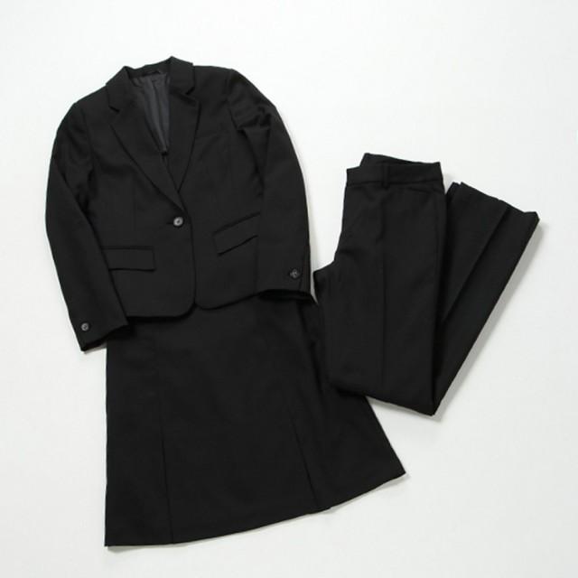 スタイリッシュ3点セットスーツ(レディース) ブラック