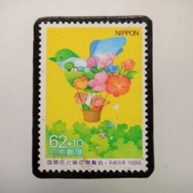 日本 切手ブローチ 3933