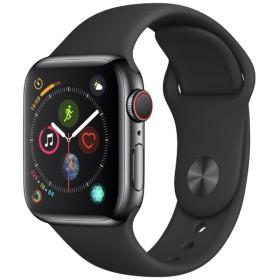 Apple Watch Series 4(GPS + Cellularモデル)- 40mm スペースブラックステンレススチールケースとブラックスポーツバンド MTVL2J/A