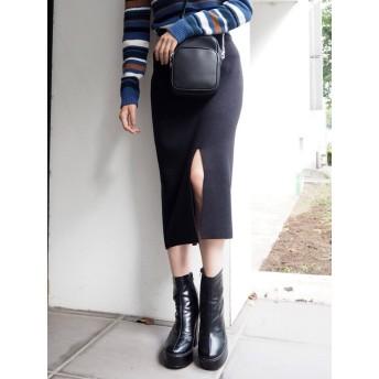 [MURUA]センタースリットニットスカート