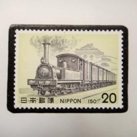日本 鉄道切手ブローチ 3941