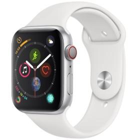 Apple Watch Series 4(GPS + Cellularモデル)- 44mm シルバーアルミニウムケースとホワイトスポーツバンド MTVR2J/A