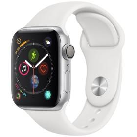 Apple Watch Series 4(GPSモデル)- 40mm シルバーアルミニウムケースとホワイトスポーツバンド MU642J/A
