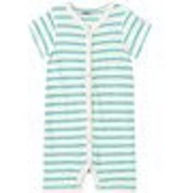 ラッシュガード キッズ 女の子【eBBe Kids Off White and Blue Striped Beachsuit】