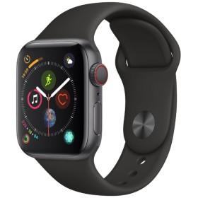 Apple Watch Series 4(GPS + Cellularモデル)- 40mm スペースグレイアルミニウムケースとブラックスポーツバンド MTVD2J/A