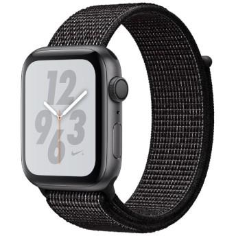 Apple Watch Nike+ Series 4(GPSモデル)- 44mm スペースグレイアルミニウムケースとブラックNikeスポーツループ MU7J2J/A