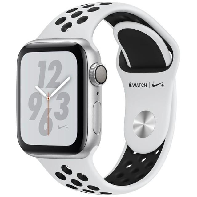 Apple Watch Nike+ Series 4(GPSモデル)- 40mm シルバーアルミニウムケースとピュアプラチナム/ブラックNikeスポーツバンド MU6H2J/A