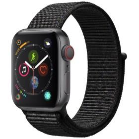 Apple Watch Series 4(GPS + Cellularモデル)- 40mm スペースグレイアルミニウムケースとブラックスポーツループ MTVF2J/A