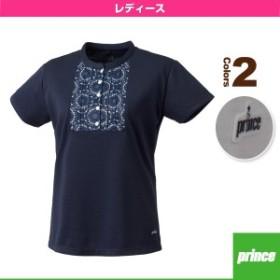 [プリンス テニス・バドミントン ウェア(レディース)]ゲームシャツ/レディース(WL7045)